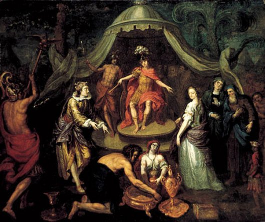 The Queen Of Sheba Visits King Solomon