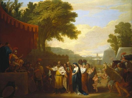 The Wife Of Arminius Brought Captive To Germanicus