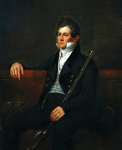 Young Gentleman Holding A Rifle