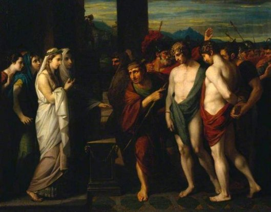 Pylades And Orestes Brought As Victims To Iphigenia