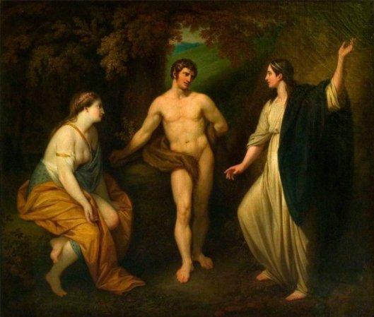 The Choice Of Hercules Between Virtue And Pleasure
