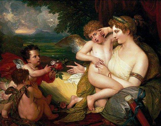 Venus Comforting Cupid Stung By A Bee