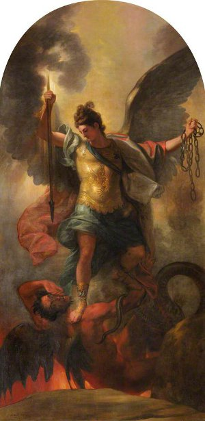 Archangel Michael Blinding The Devil