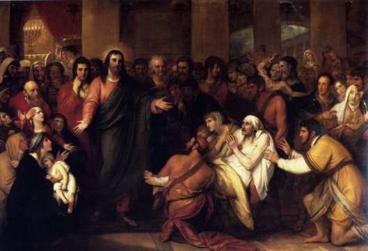 Christ Healing The Sick In The Temple