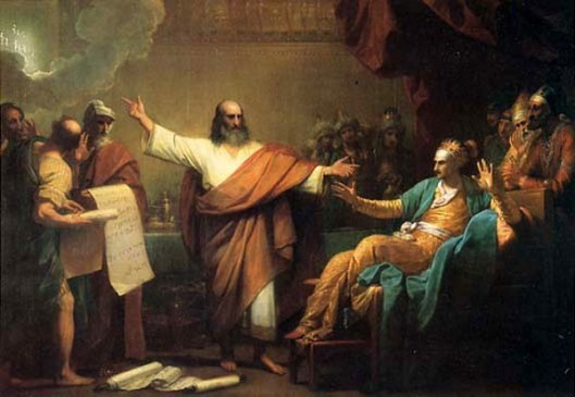 Daniel Interpreting To Balshazzar The Handwriting On The Wall