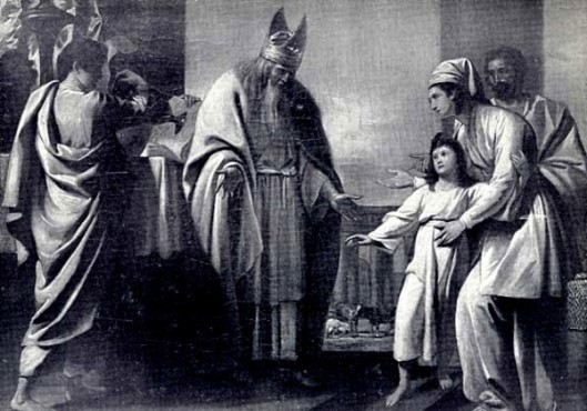 Hannah Presenting Samuel To Eli In The Temple
