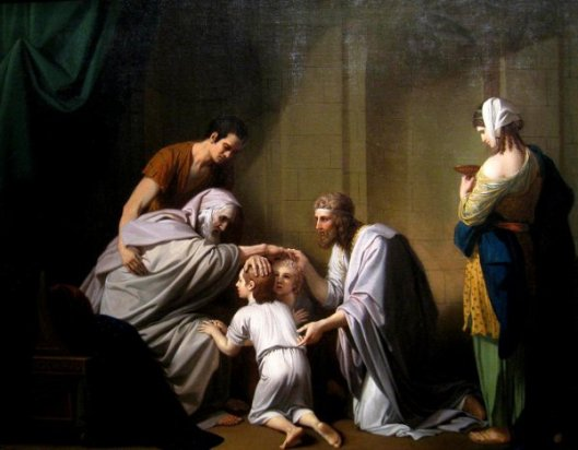 Jacob Blessing Ephraim And Manasseh - Jacob Blessing The Sons Of Joseph