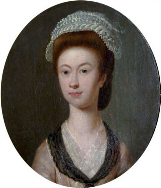 Lady In Pink Dress And Lace Bonnet